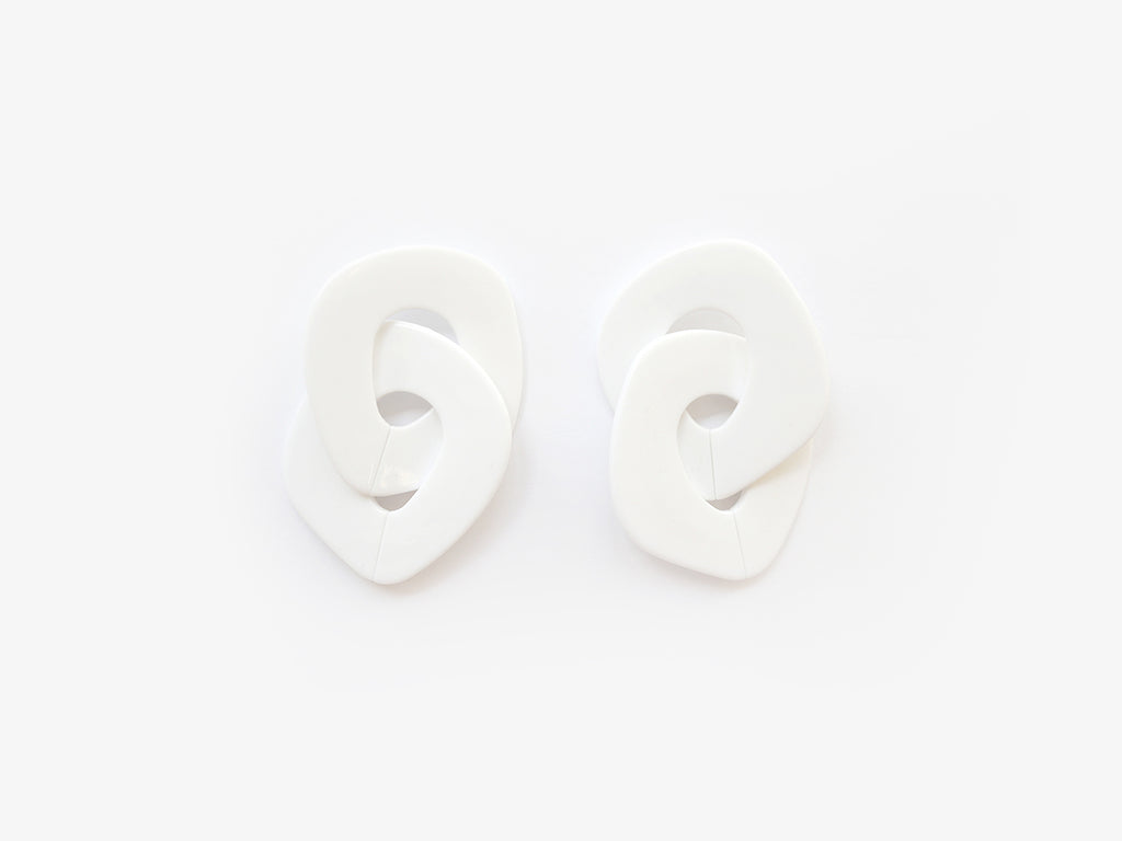 Andrea Earrings in White