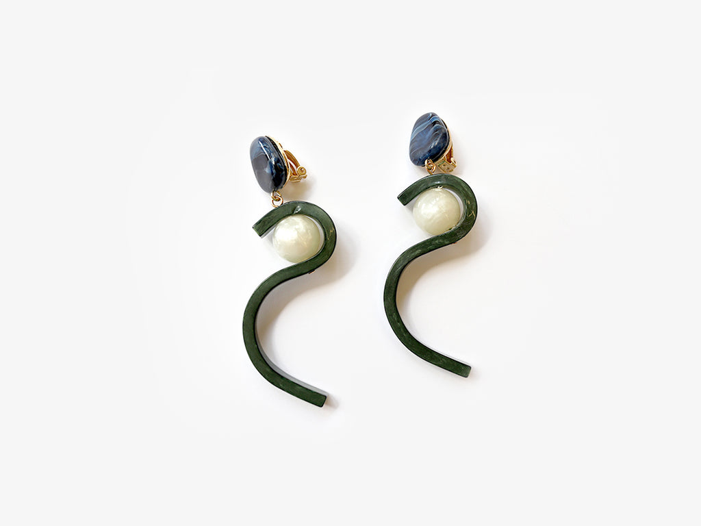 Jasmine Earrings in Jade Green
