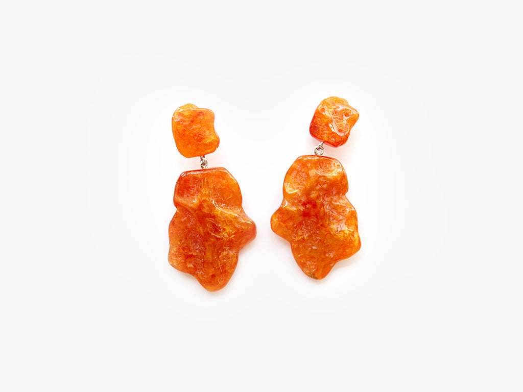 Molly Earrings in Orange