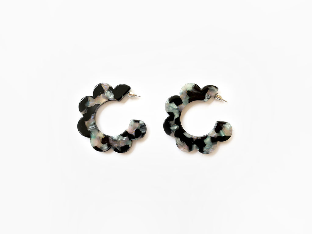Maritza Earrings in Black