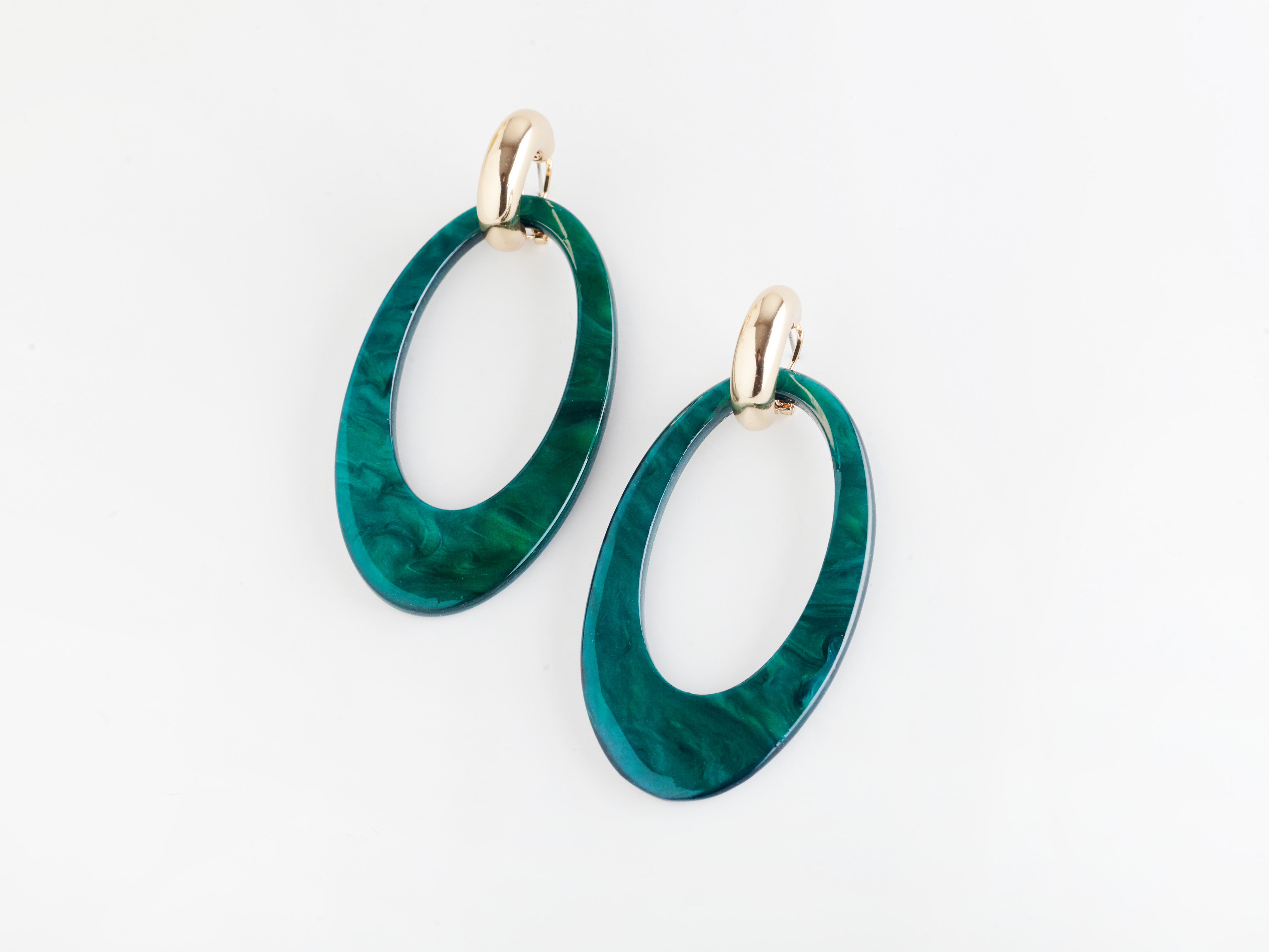 Opulent Earrings in Jade