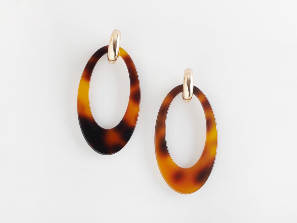 Opulent Earrings in Tortoiseshell