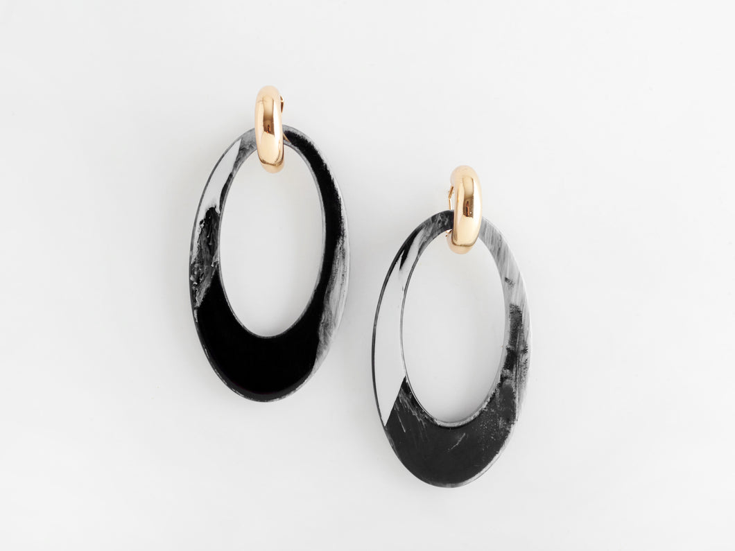Opulent Earrings in Black