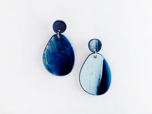Pandora Earrings in Navy