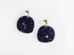 Jeanne Earrings in Navy