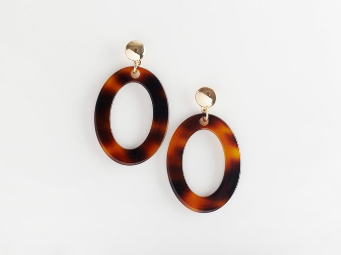 Camille Earrings in Tortoiseshell