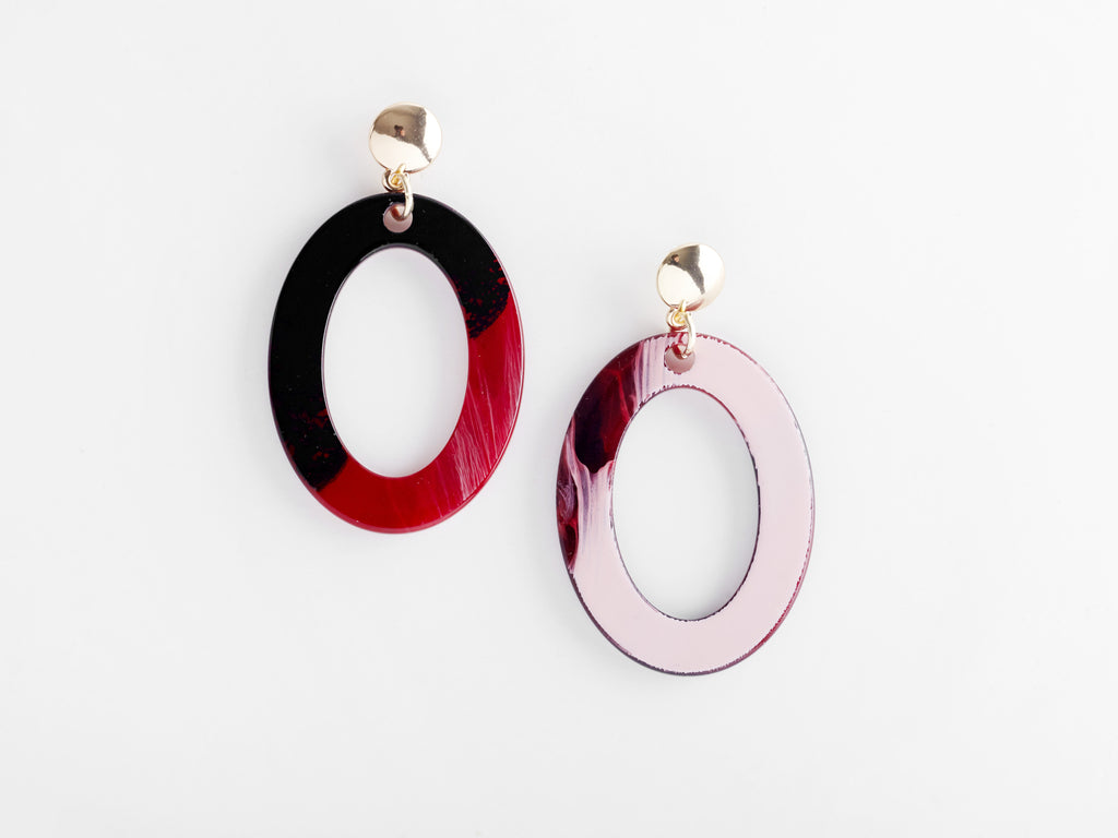 Camille Earrings in Red