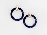 Chloe Earrings in Navy