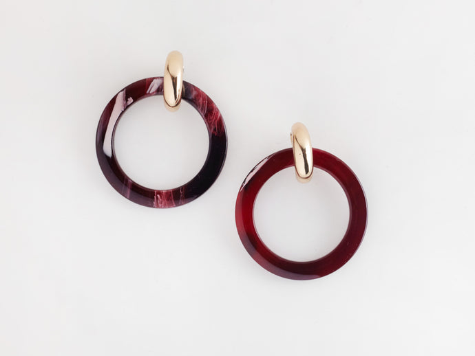 Chloe Earrings in Wine