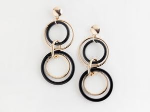Trio Earrings in Black
