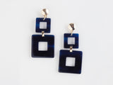 Toucan Earrings in Navy