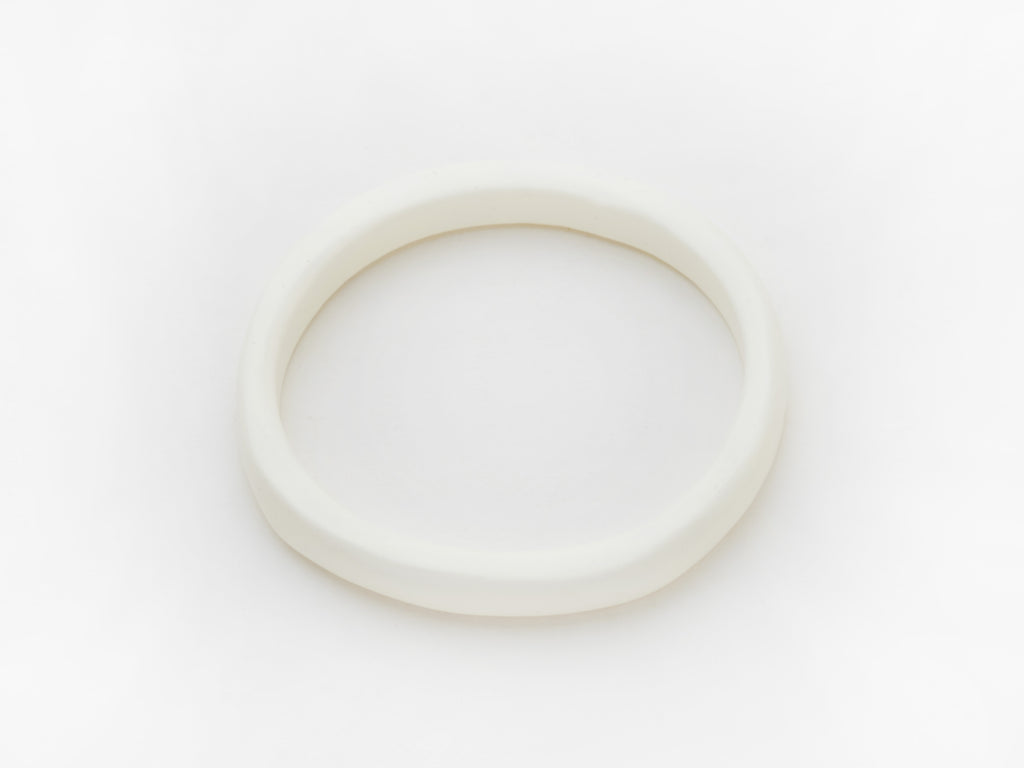 Creole Bangle in White