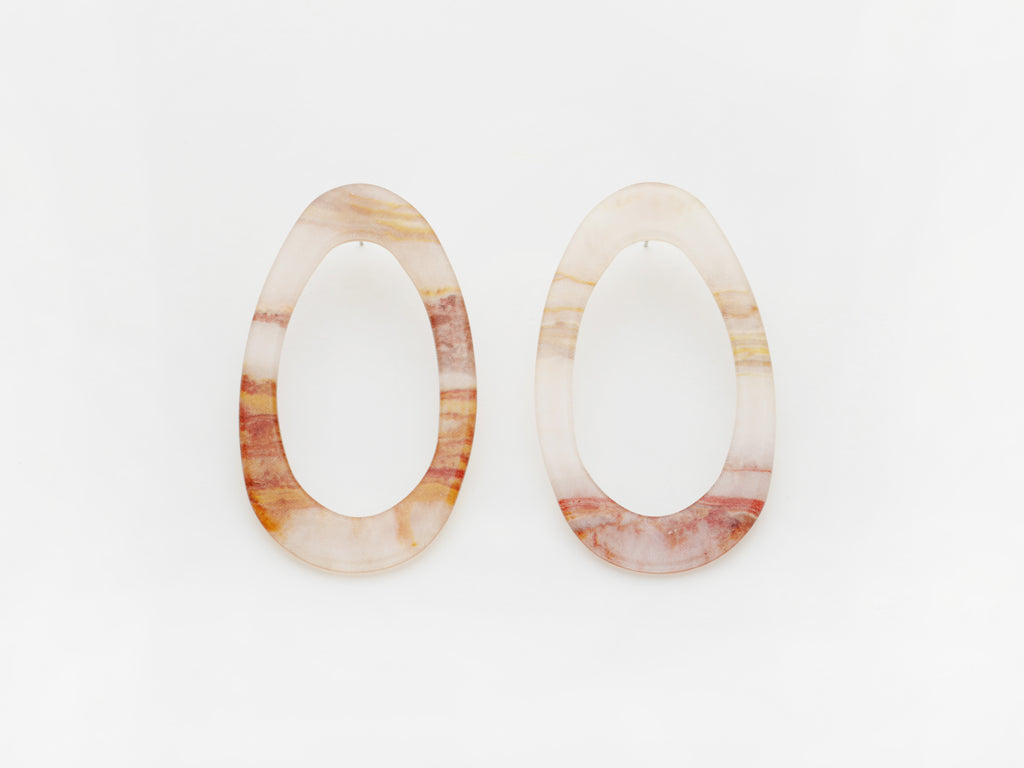 Marlo Earrings in Marble