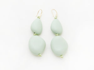 Pebble Earrings in Aqua