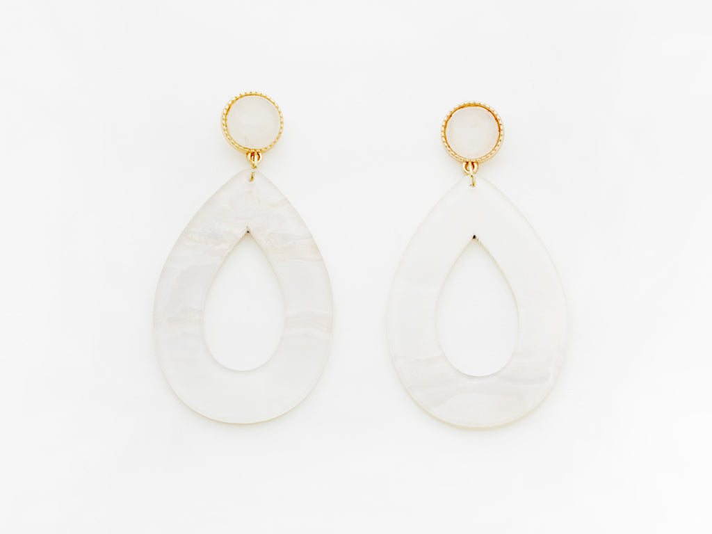 Carine Earrings in White
