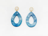 Carine Earrings in Blue