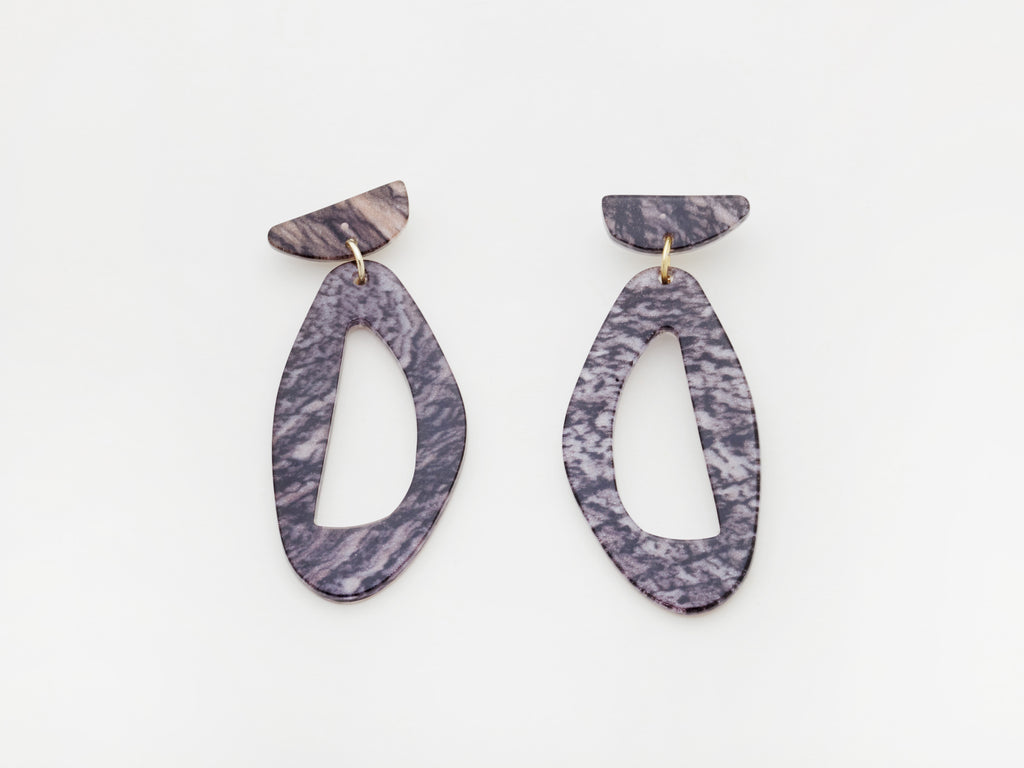 Zara Earrings in Ash