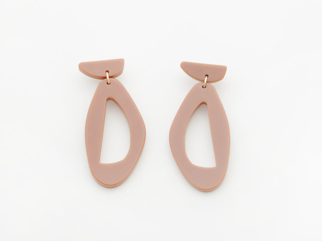 Zara Earrings in Old Pink