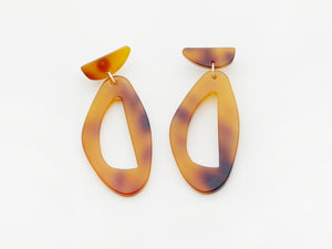 Zara Earrings in Tortoiseshell