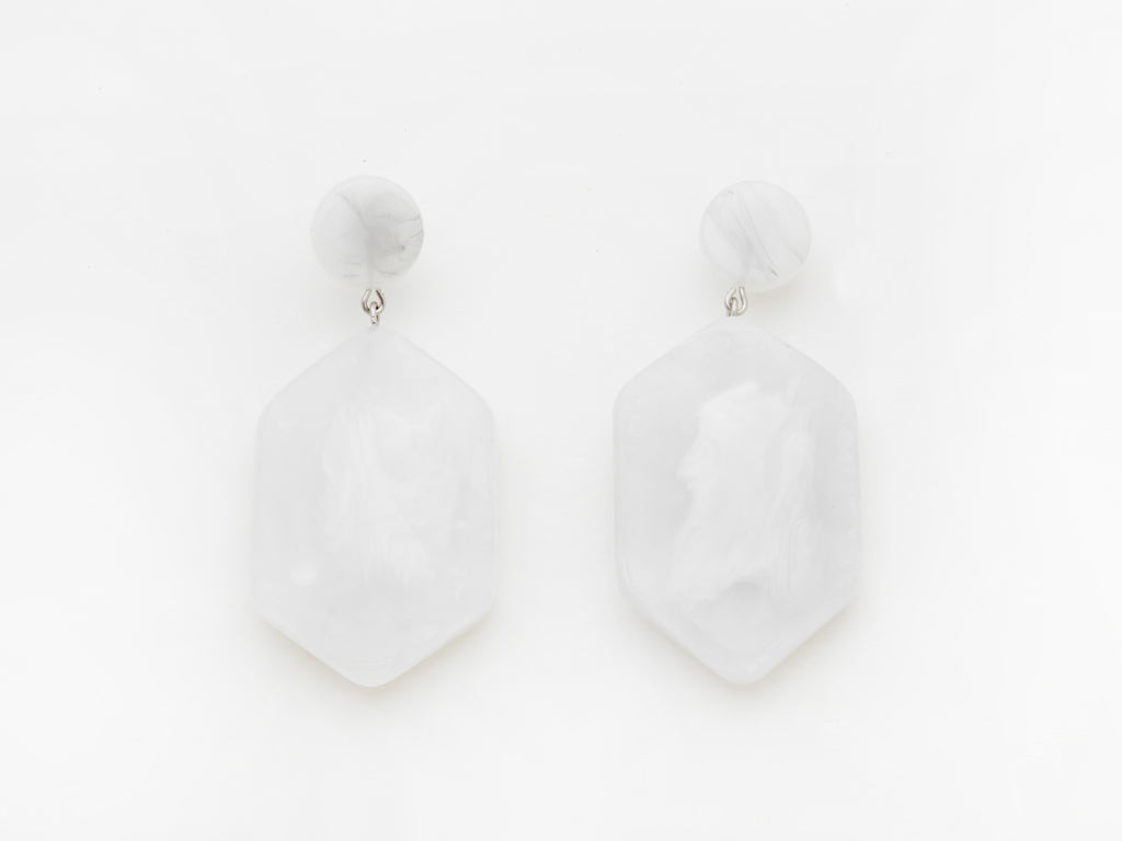 Natalia Earrings in White
