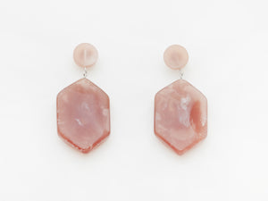Natalia Earrings in Marble