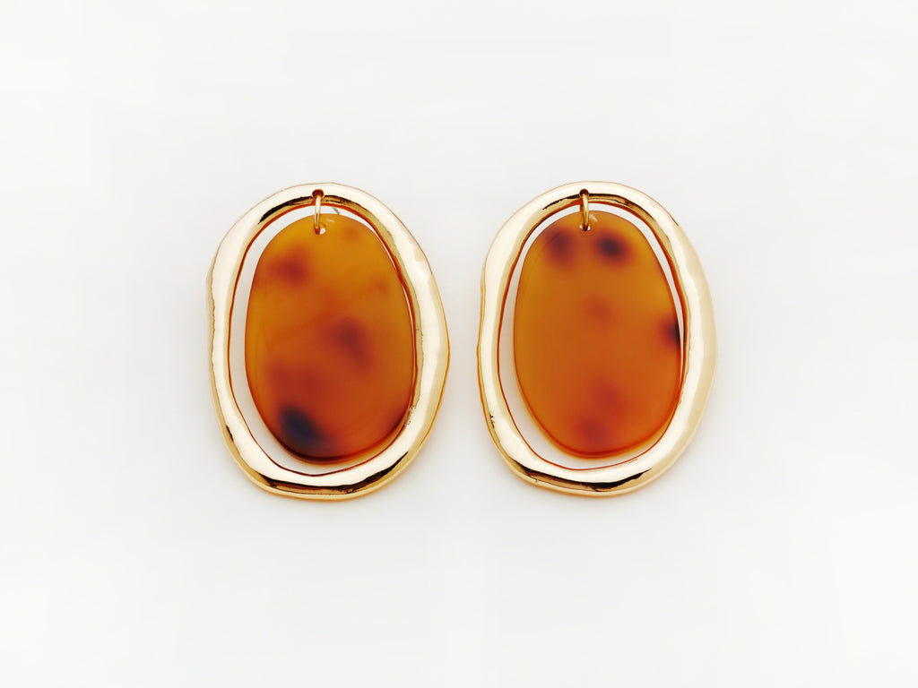 Rachelle Earrings in Tortoiseshell