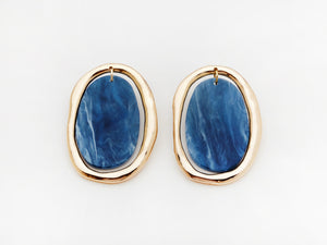Rachelle Earrings in Navy