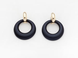 Constance Earrings in Black