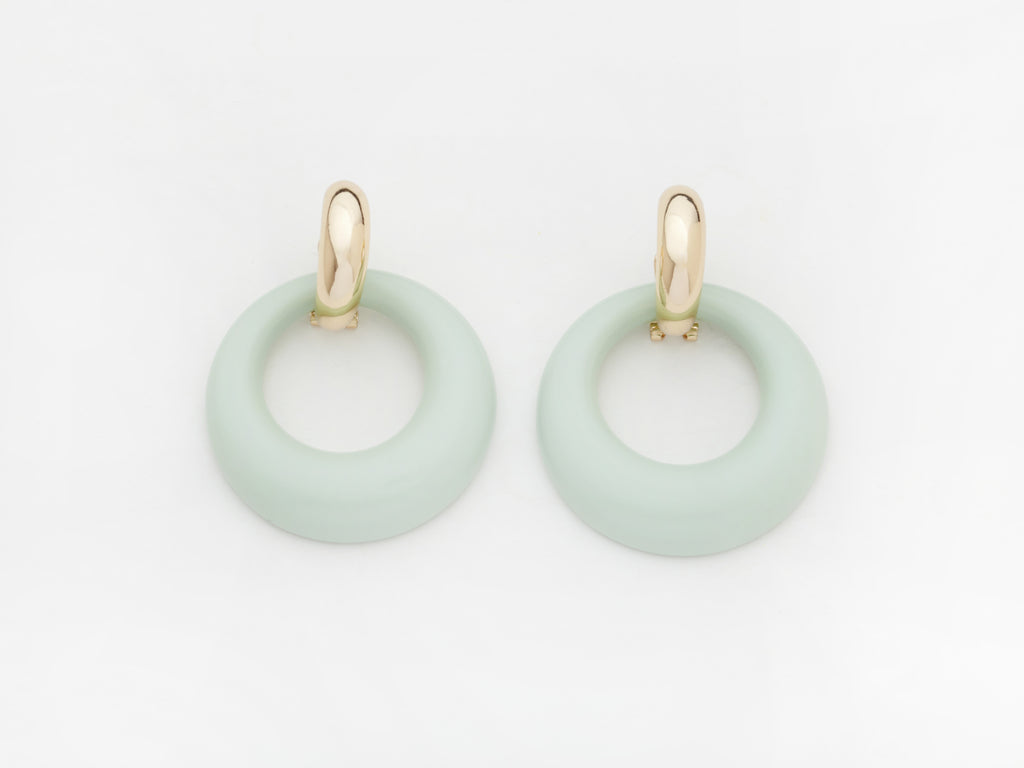 Constance Earrings in Aqua