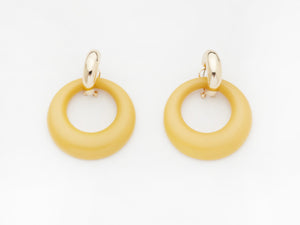 Constance Earrings in Mustard