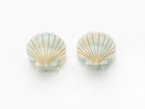 Little Shell Clips in Mint