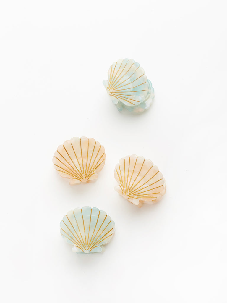 Ursula Shell Clips in Mint