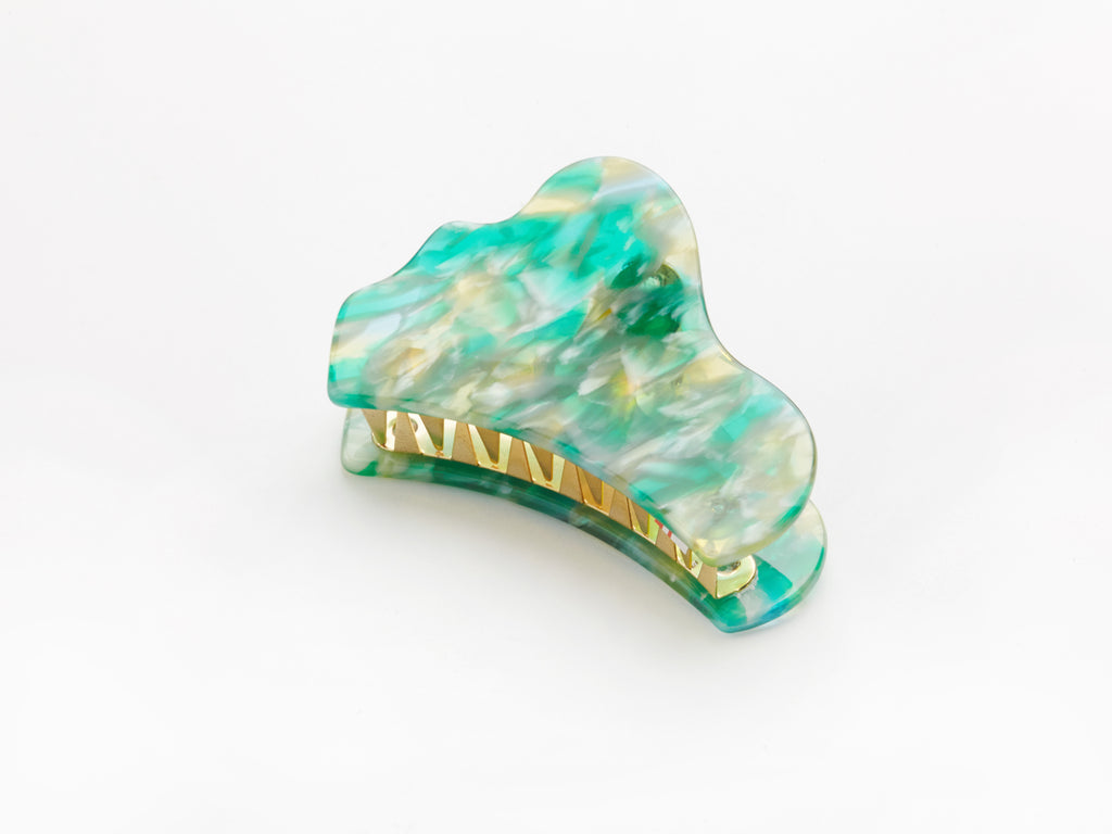 Laura Clip in Green Marble