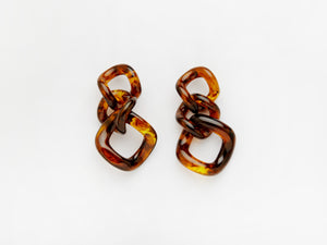 Romane Earrings in Tortoise