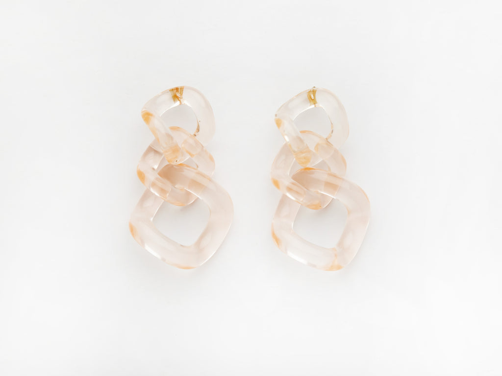 Romane Earrings in Pink