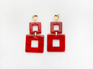 Toucan Earrings in Red