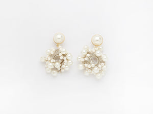 Bella Earrings in White