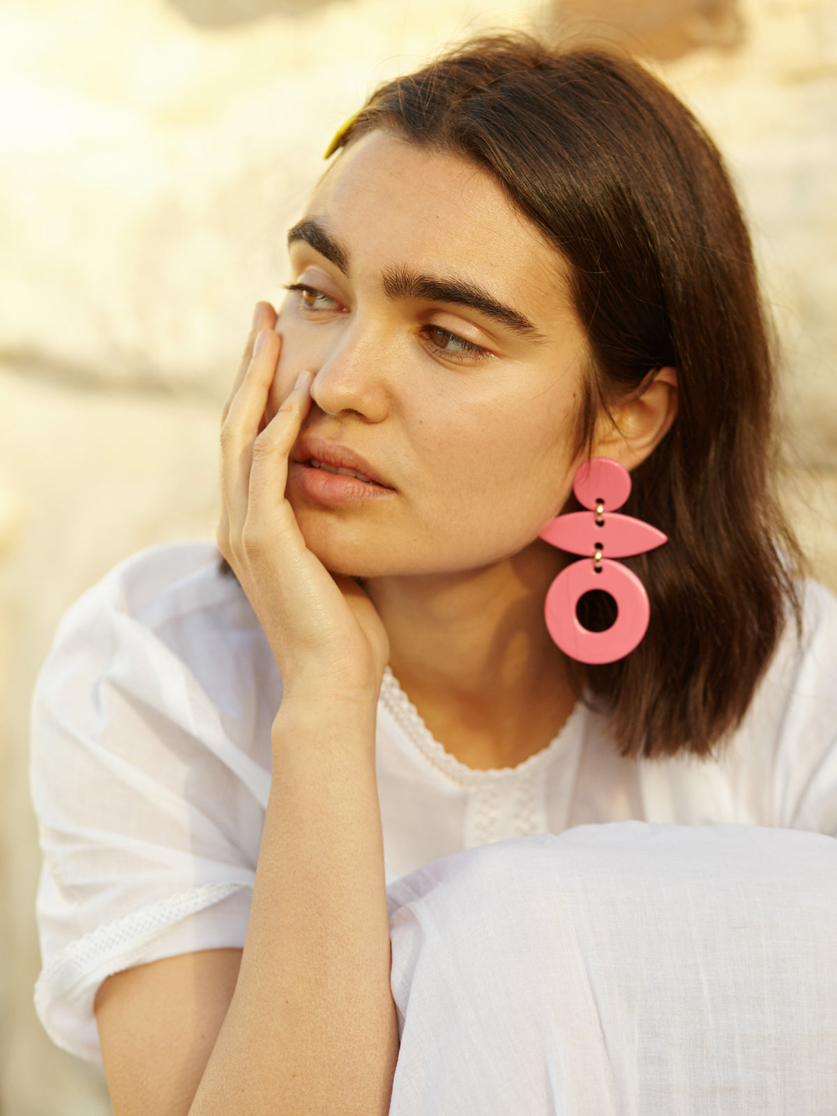 Evie Earrings in Pink