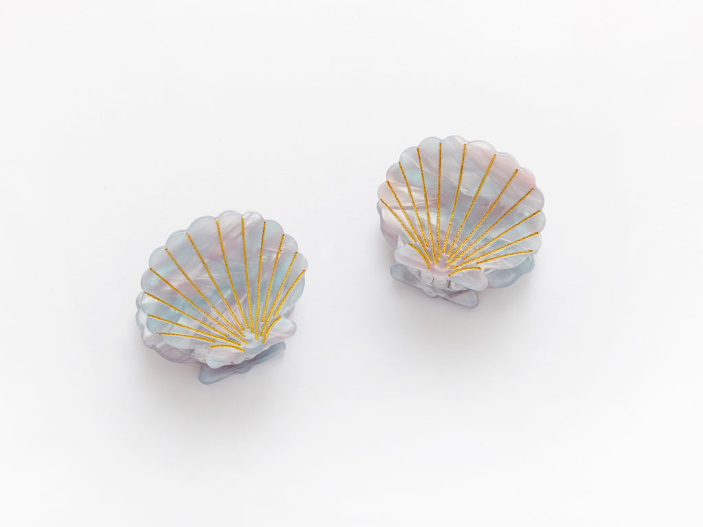 Ursula Shell Clips in Blue