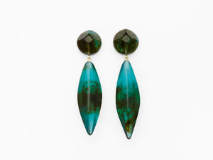 Margot Earrings in Green