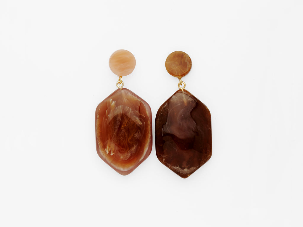Natalia Earrings in Cola