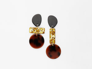 Madeleine Earrings in Tortoiseshell