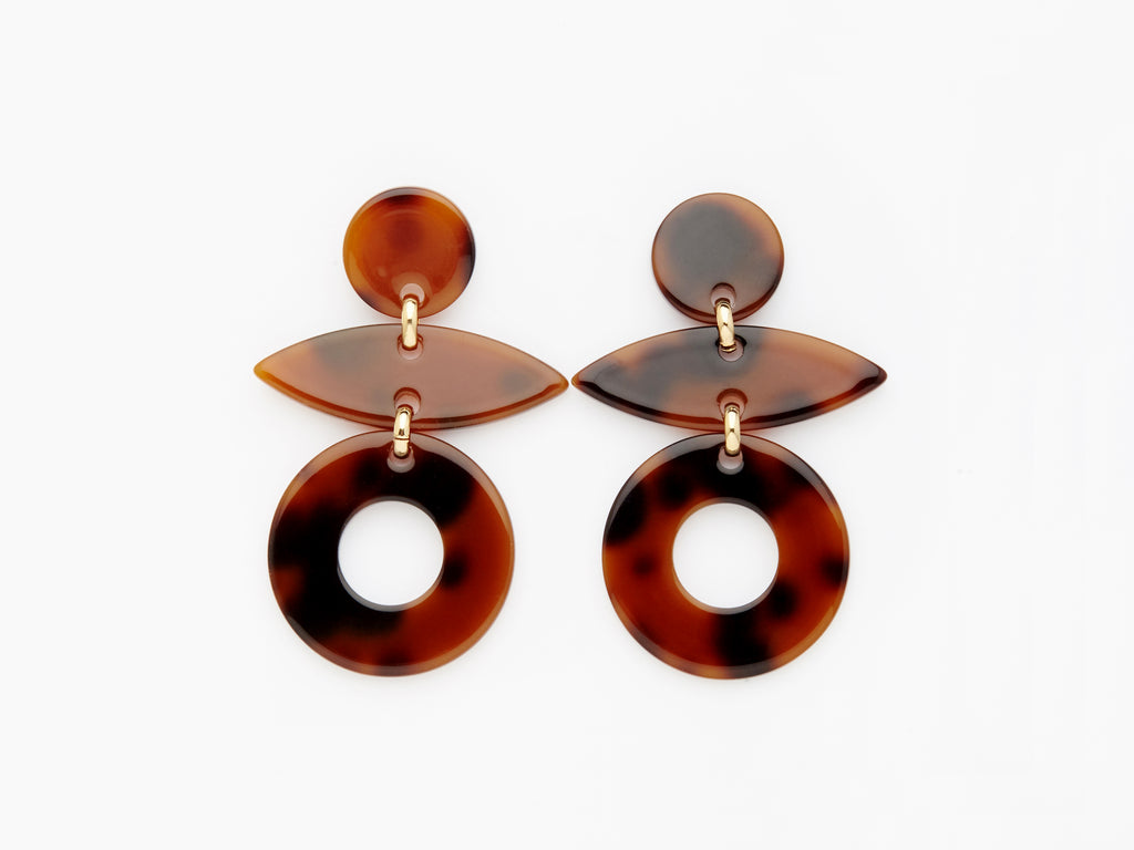 Evie Earrings in Tortoiseshell