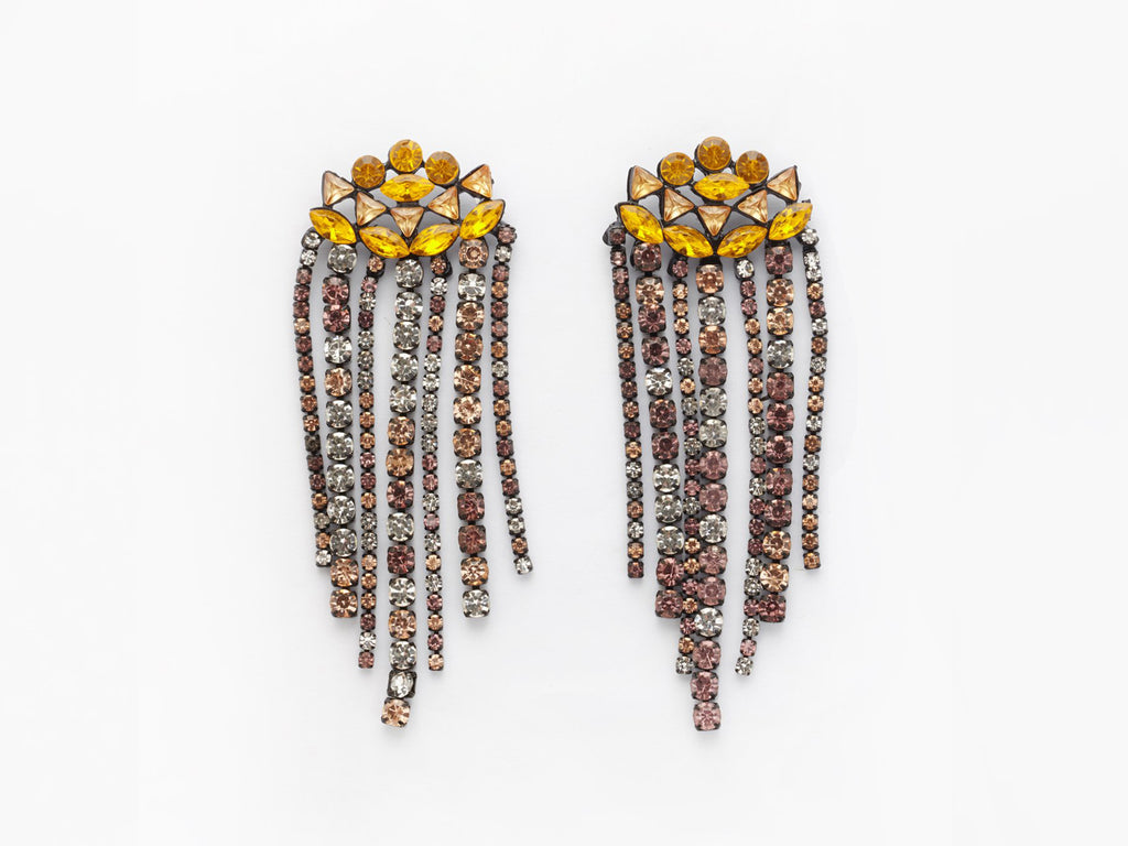 Zoe Earrings in Amber