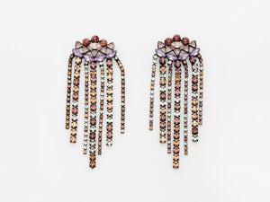 Zoe Earrings in Violet