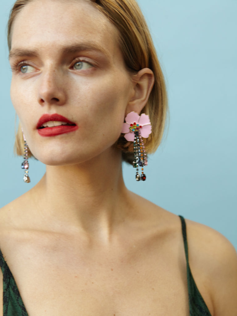 Heidi Earrings in Pink