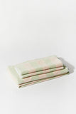 Towel Set Wide Stripe Mint