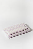 Towel Set Narrow Check Lilac