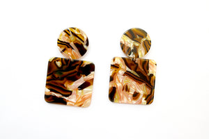 Abigail Earrings Brown
