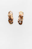 Adora Earrings in Brown Marble
